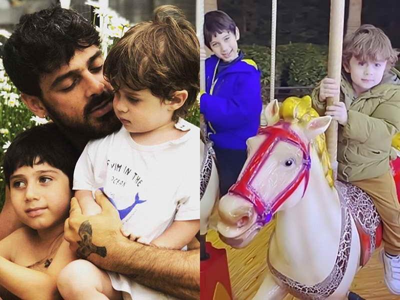 Микеле Морроне с детьми